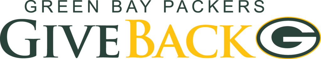 green bay packers give back logo